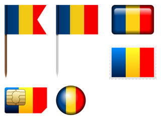 Romania flag set