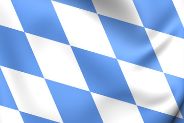 Flag of Bavaria, Germany.