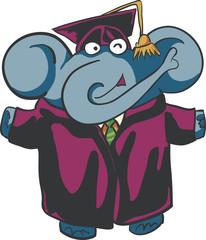 graduation elephant