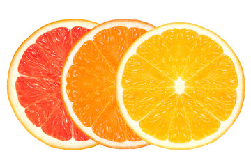 Closeup of Healthy Fresh Citrus Fruits. Clean Eating