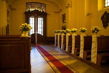 Wedding decoration church
