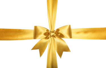 Gold ribbons with bow