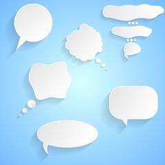 Speech bubbles vector design