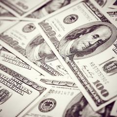 Vintage dollars background