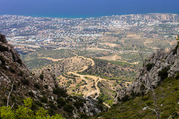 view of the city of Kyrenia, North Cyprus