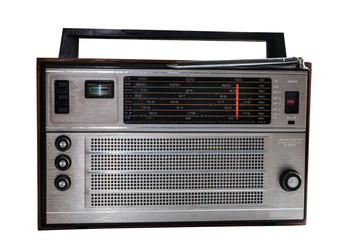 Old russian radio isolated with clipping path
