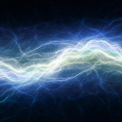 Blue electric lighting, abstract electrical background