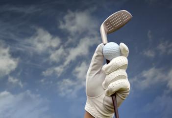 Wall Mural - Golf club against a blue sky