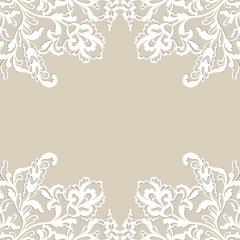 White flower frame.