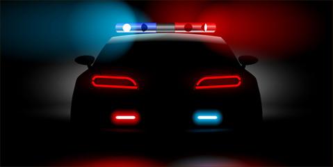 realistic police car backwards