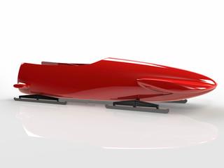 Red bob-sleigh
