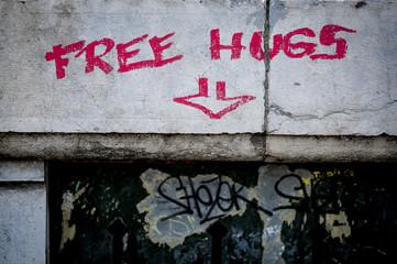 Graffiti free hugs