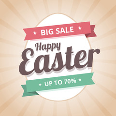 Happy Easter Sale big sale illustration.
