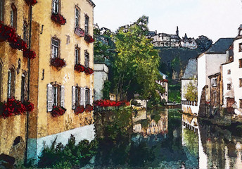 Luxemburg. Water-color picture