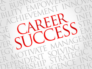 Career Success word cloud, business concept