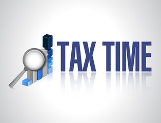tax time business magnify graph sign