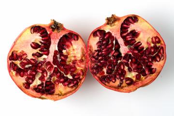 pomegranate divided in half