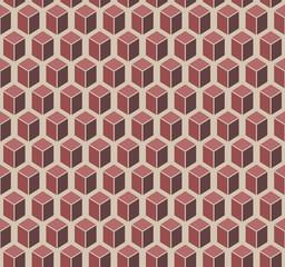Brown cubes seamless pattern