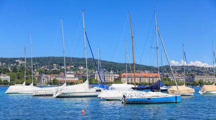 Yachts on Lake Zurich