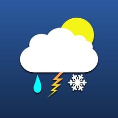Sun, cloud, rain, snow, thunder icon