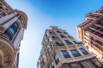 historische Gebäude an der Plaza de Canalejas in Madrid