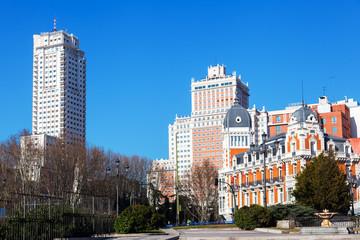 Plaza de Espana in Madrid, Spanien