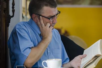 Man seriously Reading