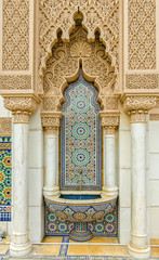 Detail architecture of Moroccan Pavilion in Putrajaya Malaysia