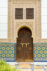 Detail of Moroccan door in Putrajaya Malaysia