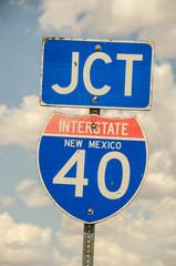 Junction Sign for I-40