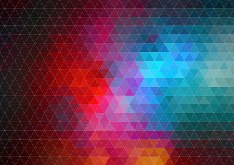 Pattern of geometric shapes, Background with flow of spectrum ef