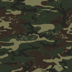 Seamless grunge camouflage background pattern.