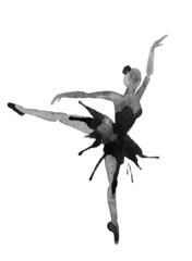 Dancing Ballerina. Watercolor illustration