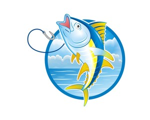 blue fish logo