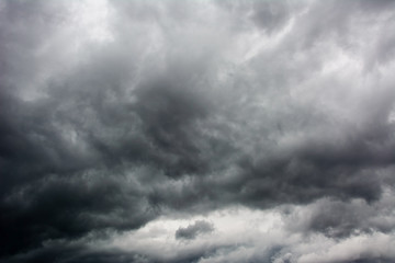 dark dramatic storm cloudscape