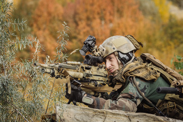 Ranger aim and shoot a Gun