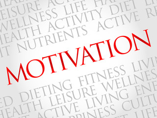MOTIVATION word cloud, fitness, sport, health concept