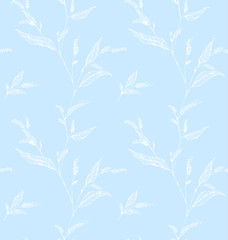 Seamless pattern with decorative branch