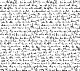 Seamless pattern with handwriting text