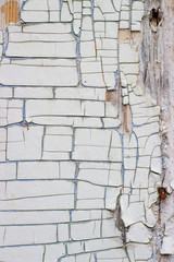 background with old cracked paint white