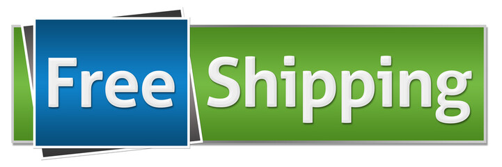 Free Shipping Green Blue Horizontal