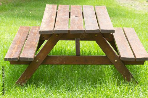 table-banc de jardin et de pique-nique bois\