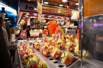 Fruit salad at the market