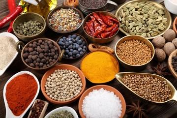 Photo sur Aluminium Aromatic spices.