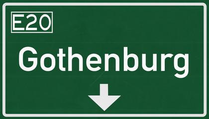 Gothenburg Sweden Highway Road Sign