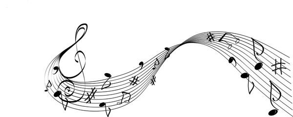 Solfeggio Bianco E Nero Con Chiave E Note Musicali Stock Image And