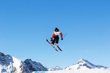 ski jumping backwards