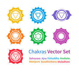 Chakras. Vector set.