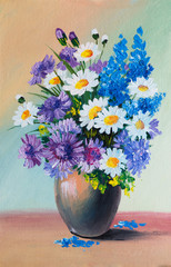 Oil Painting - still life, a bouquet of flowers