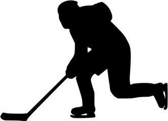 Hockey Player with Stick